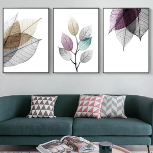 Transparent Leaf Wall Art Prints - Fansee Australia
