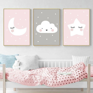 Up In The Sky Kids Room Decor Canvas Wall Art - Fansee Australia