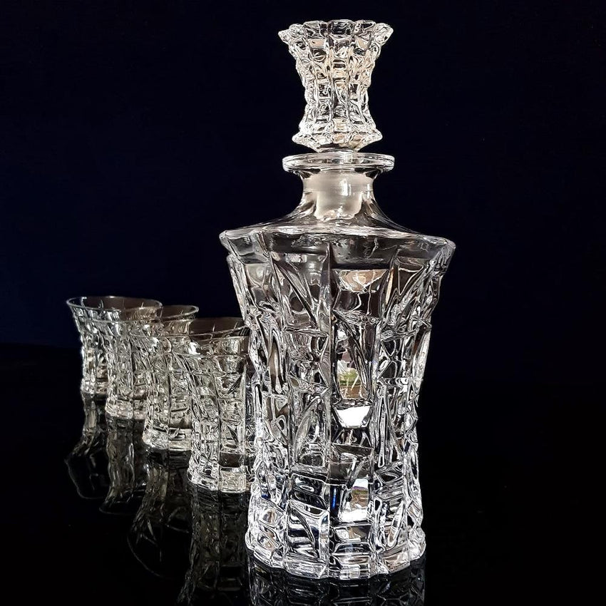 Whiskey Decanter and Glasses Set (Cœur Pur - Roi) - Fansee Australia