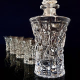 Whiskey Decanter and Glasses Set - King Crystal (Cœur Pur - Roi) - Fansee Australia