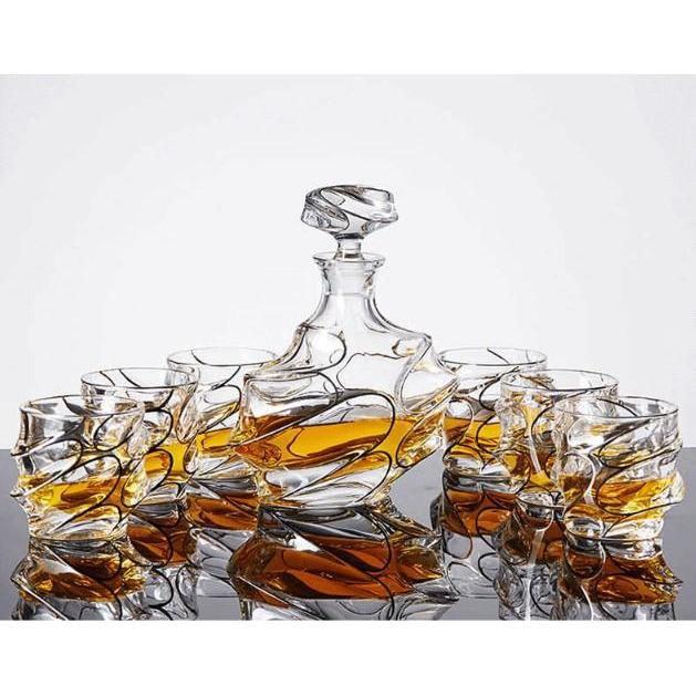 Whiskey Decanter & Tumblers 6 Piece Set - Fansee Australia