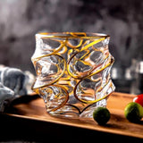 Whiskey Decanter & Tumblers 6 Piece Set (L'or distingué – Vent) - Fansee Australia
