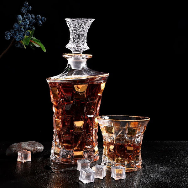 Whiskey Glasses - King (Whiskey Tumbler & Decanter Set) - Fansee Australia