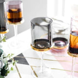 Wine Glasses (Set of 4 Black) - Fansee Australia