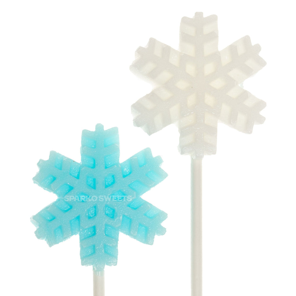Frosty White Snowflakes Lollipops - Horchata (24 Pieces) - Sparko Sweets