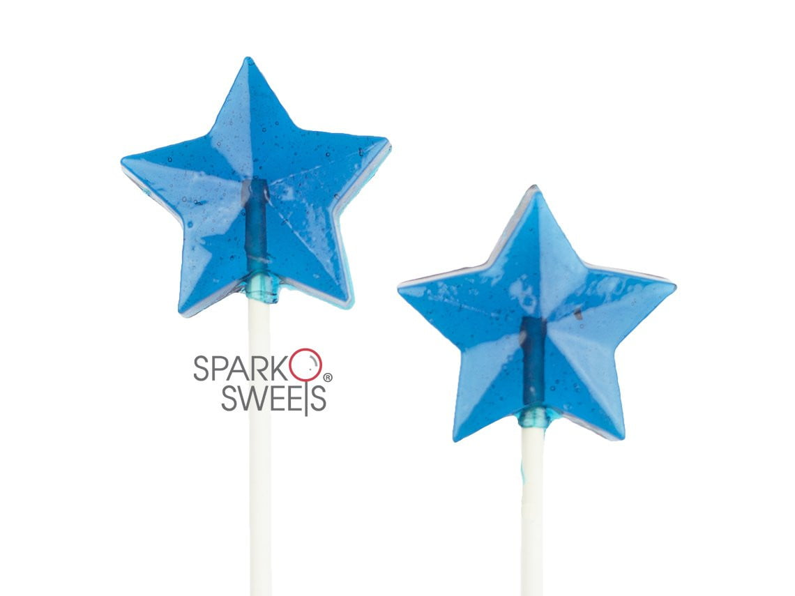 Blue Star Lollipops (24 Pieces)
