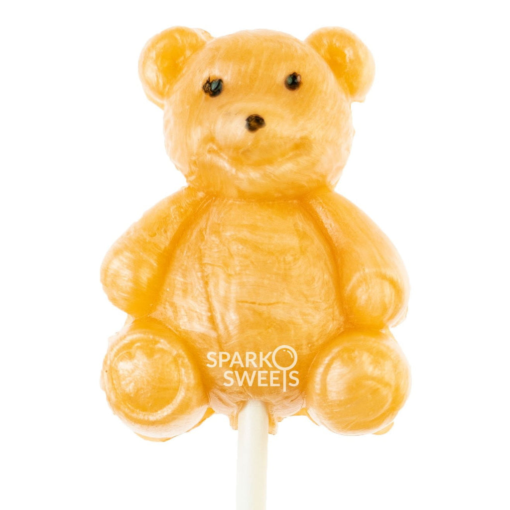 Golden Brown Teddy Bear Airy Pops (2 Pieces) - Sparko Sweets