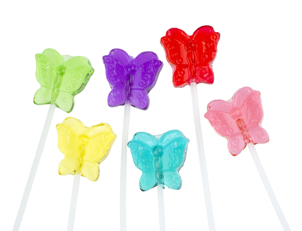 Sugar Free Butterfly Lollipops Long-Stem Twinkle Pops (120 Pieces) - Sparko Sweets