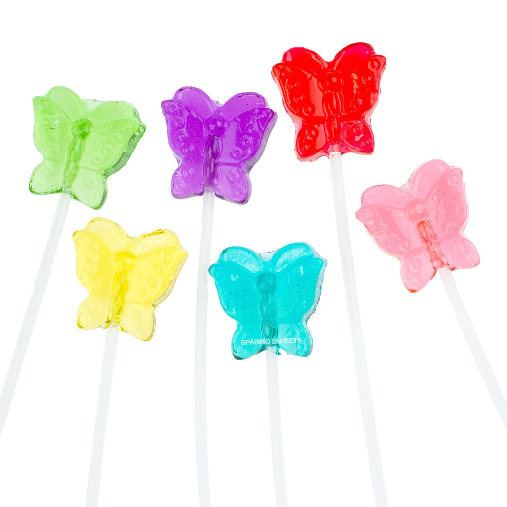 Butterfly Twinkle Pops Lollipops (120 Pieces) - Sparko Sweets