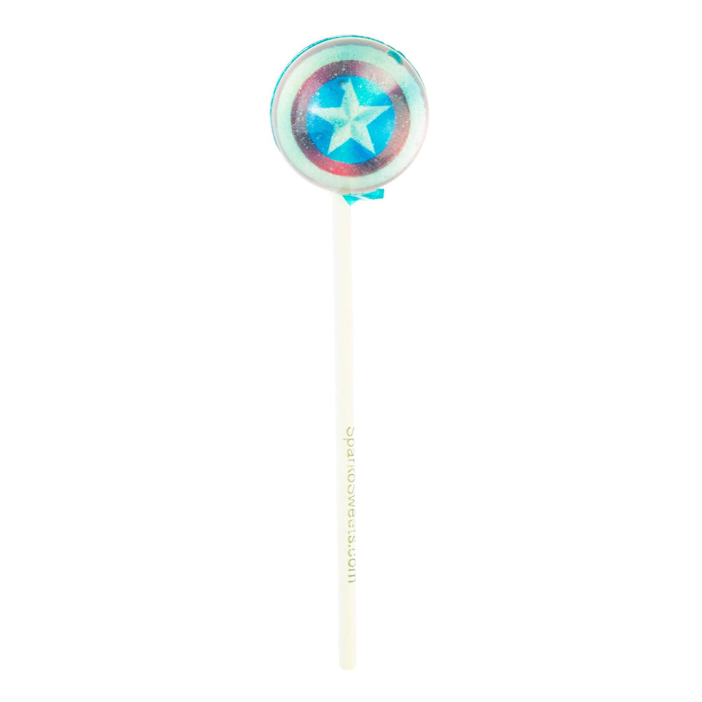 Captain America Picture Lollipops (10 Pieces) - Sparko Sweets