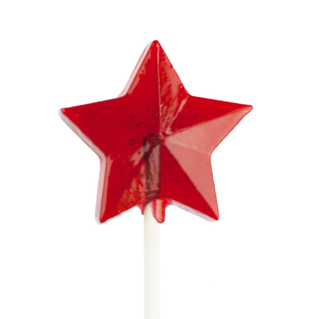 SugarFree Red Star Fireworks Lollipops (24 Pieces) - Sparko Sweets