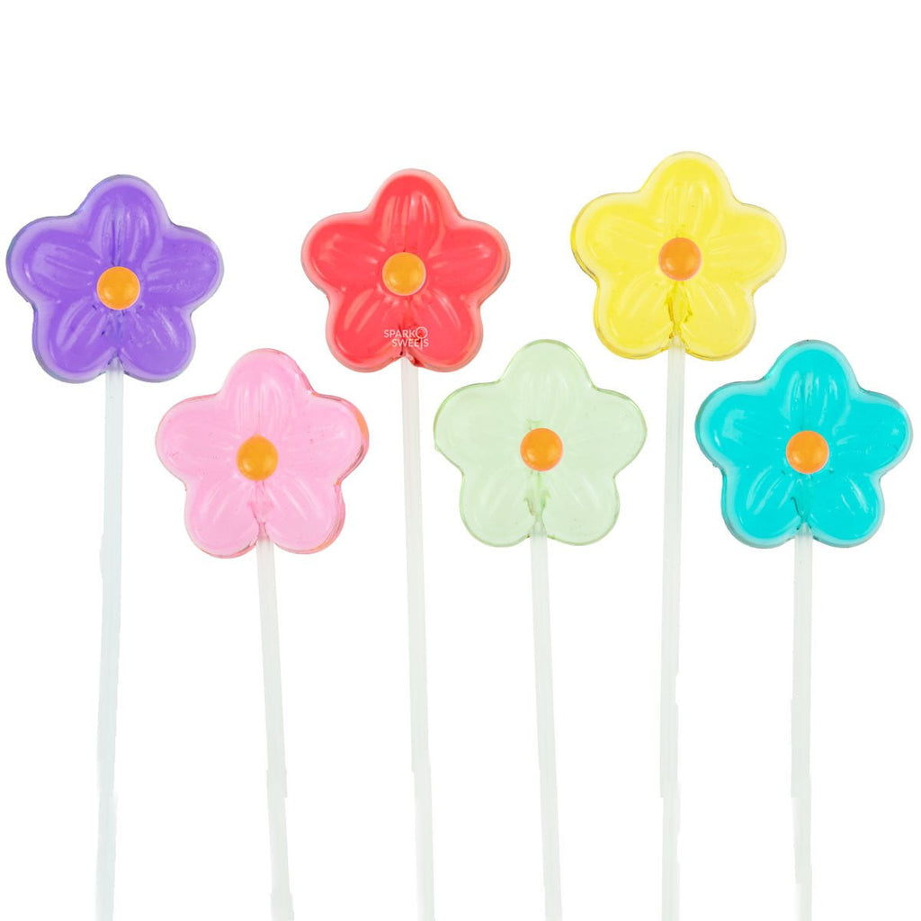 Sugar Free Daisy Lollipops Long-Stem Twinkle Pops (120 Pieces) - Sparko Sweets