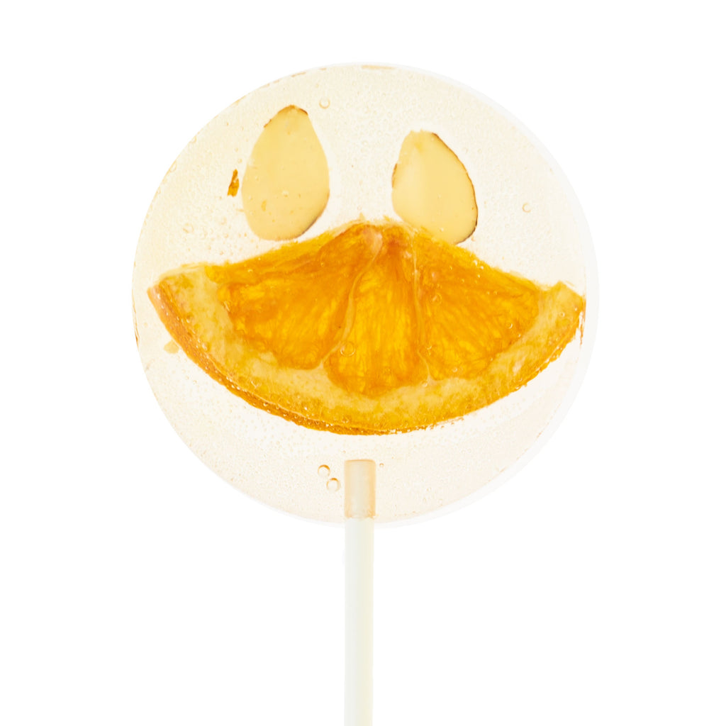 Earl Grey Tea Tangerine Almond Duck Smile Natural Pops Lollipops (8 Pieces) - Sparko Sweets