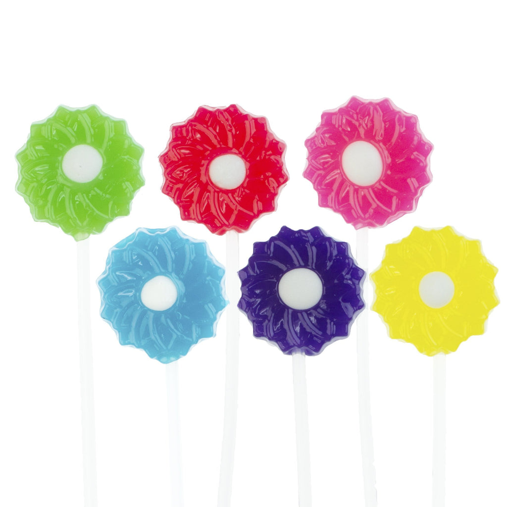 Sugar Free Twinkle Pops Lollipops - Flower Blossom (120 Pieces) - Sparko Sweets