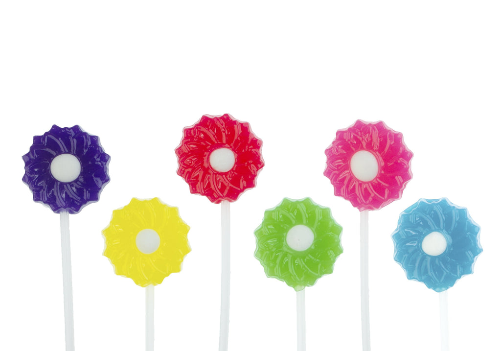 Flower Blossom Twinkle Pops Lollipops (120 Pieces) - Sparko Sweets