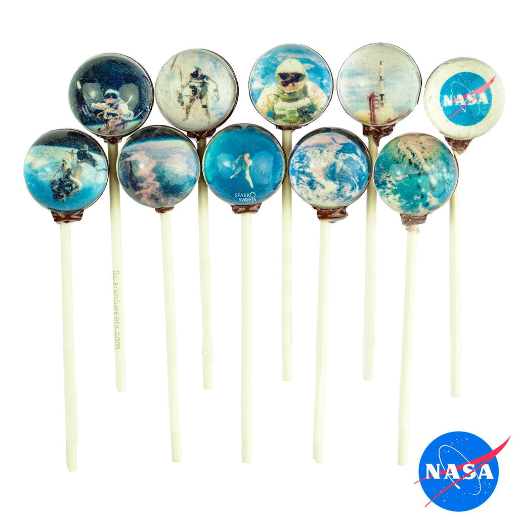 Sugar Free NASA Gemini Mission Universe Lollipops - Sparko Sweets