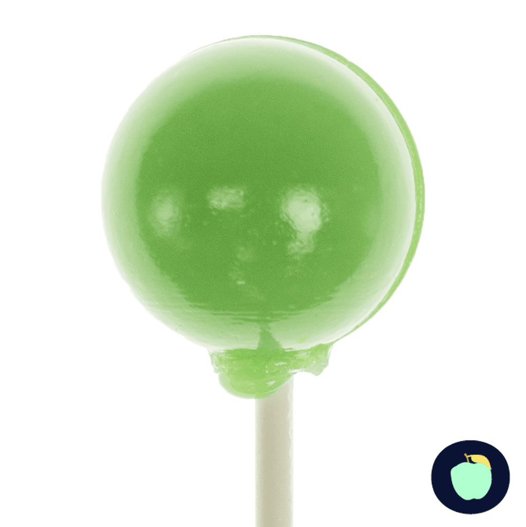 Green Apple LUSH Pops - Sphere Lollipops (36 Pieces) - Sparko Sweets