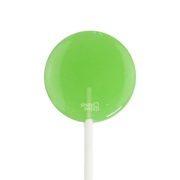 Happy Pops Green Apple Flavor Lollipops (12 Pieces)