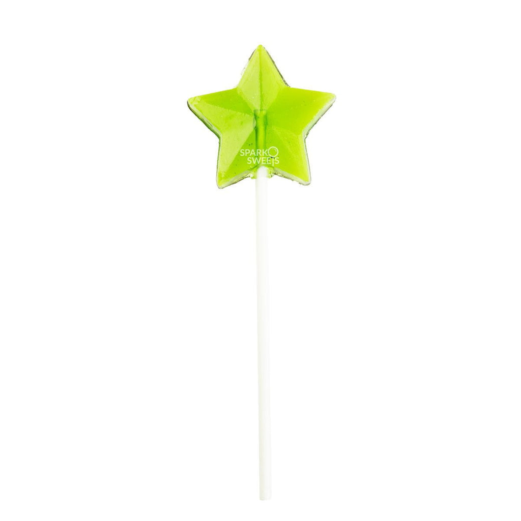 Sugar Free Green Star Fireworks Lollipops (24 Pieces) - Sparko Sweets