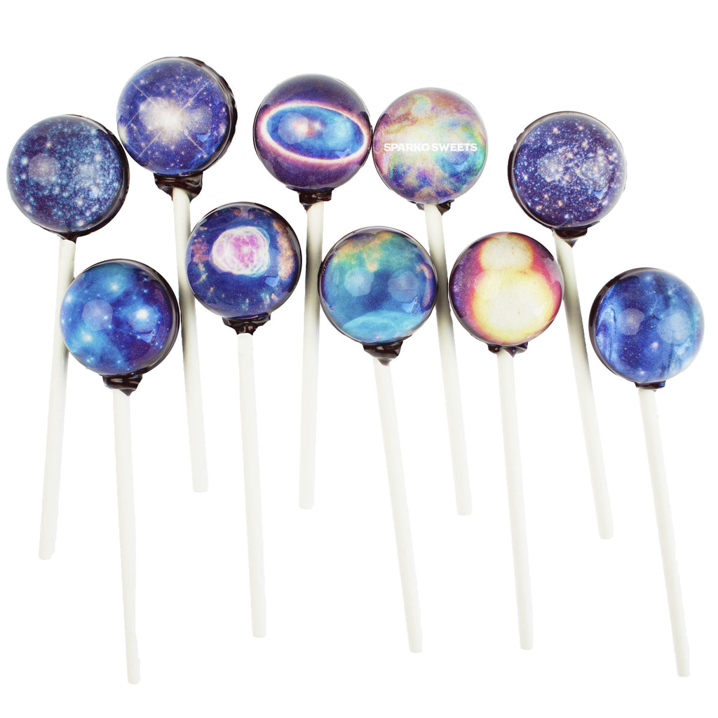 Galaxy Lollipops Star Designs - Sparko Sweets