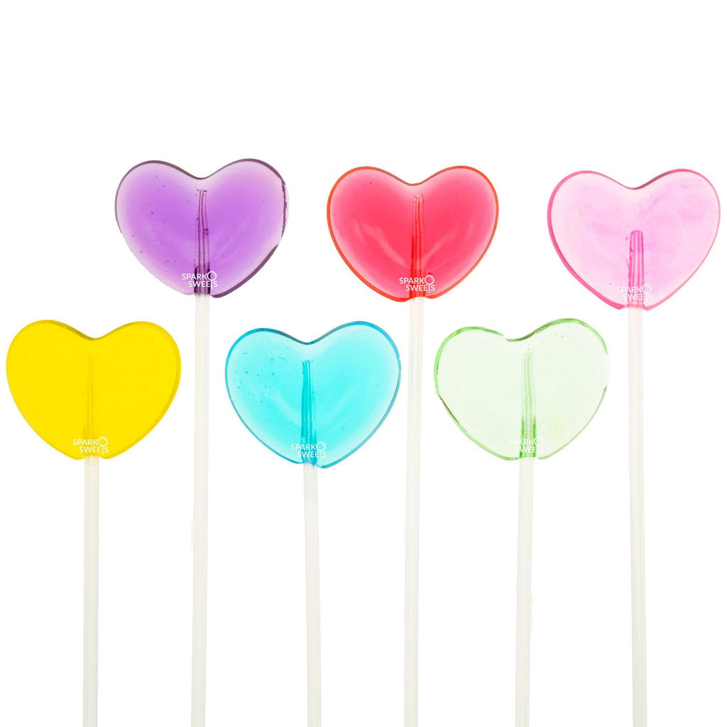 Sugar Free Heart Lollipops Long-Stem Twinkle Pops (120 Pieces) - Sparko Sweets