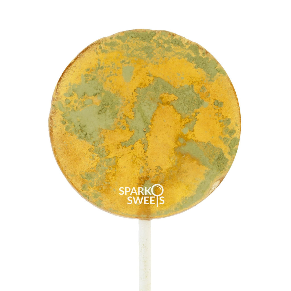 Honey Matcha Lollipops - Sparko Sweets