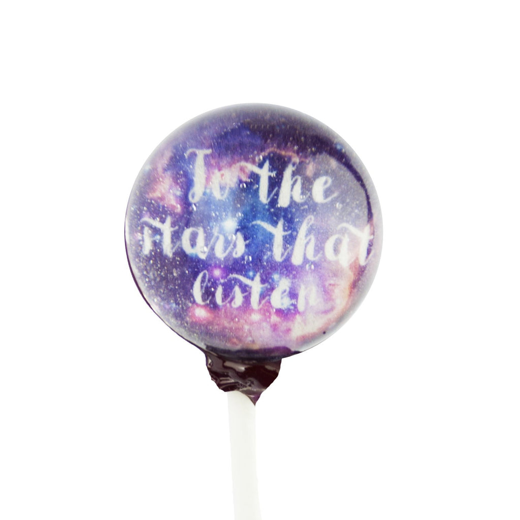 Custom Text Galaxy Lollipops (10 Pieces)