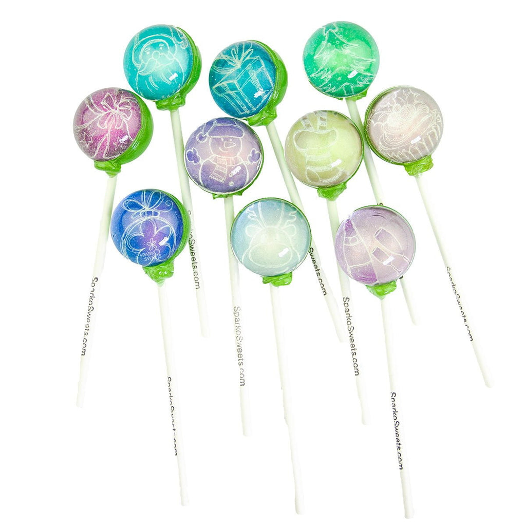 Christmas Designs Picture Lollipops (10 Pieces) - Sparko Sweets
