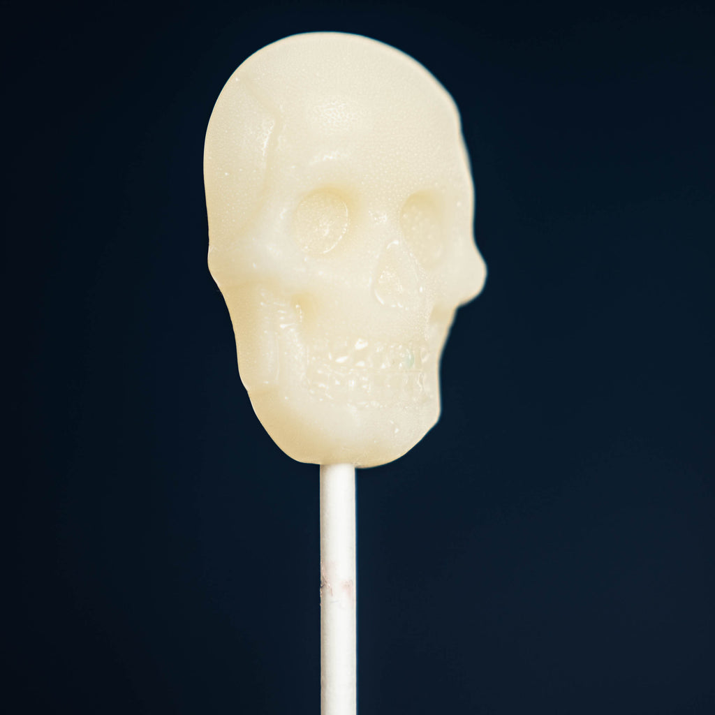 White Sugar Skull Lollipops - Peach (24 Pieces) - Sparko Sweets