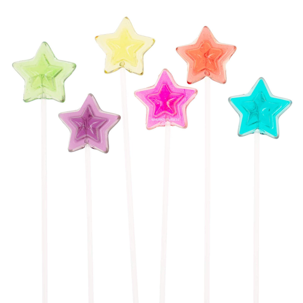 Star Twinkle Pops Lollipops (120 Pieces) - Sparko Sweets