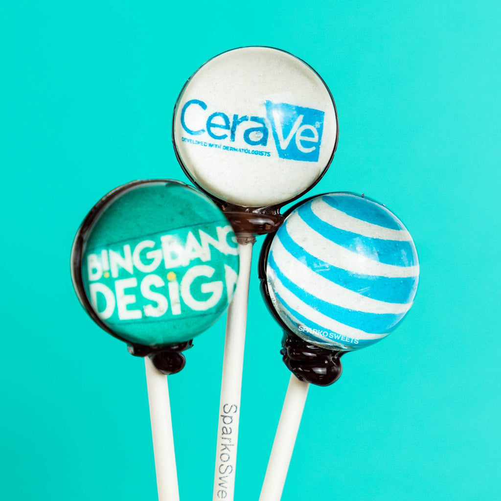 Custom Lollipops with Logos - Sparko Sweets