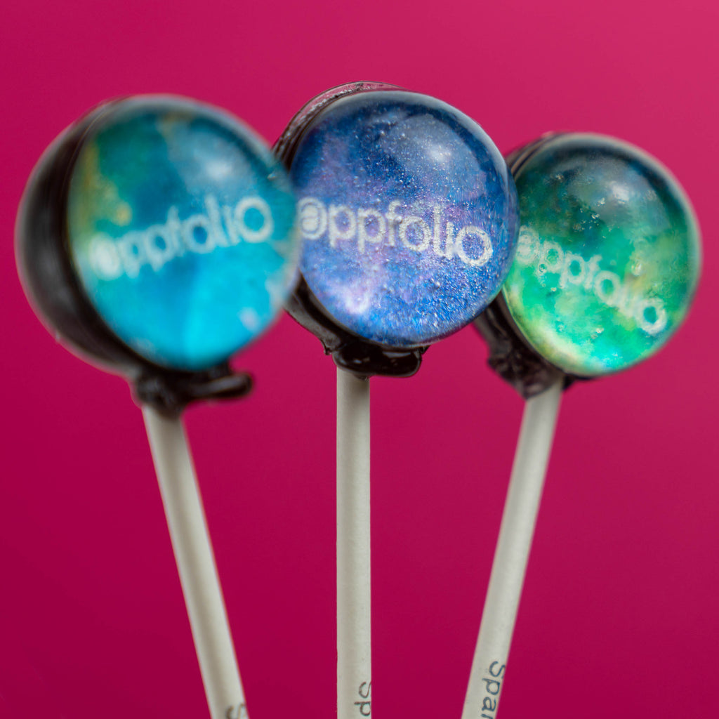 Custom Galaxy Lollipops - Colorful Variety - Sparko Sweets