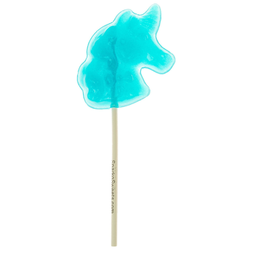 Baby Blue Unicorn Lollipops - Blue Raspberry (24 Pieces) - Sparko Sweets