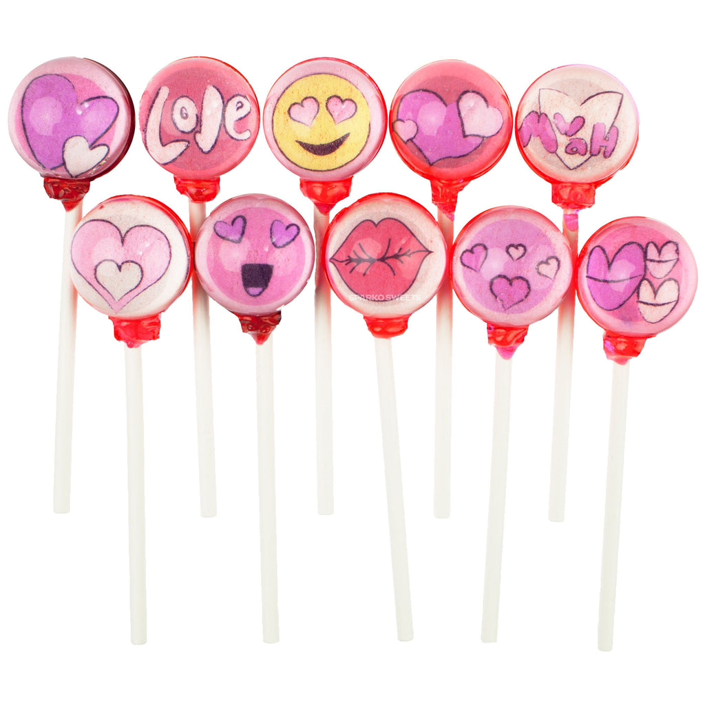 Lovey Dovey Collection Picture Lollipops (10 Designs) - Sparko Sweets