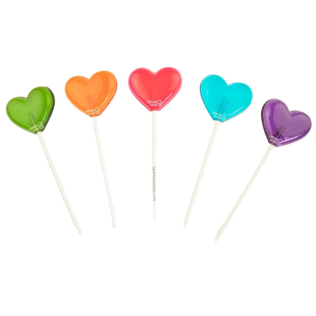 Mix Heart Lollipops (24 Pieces)