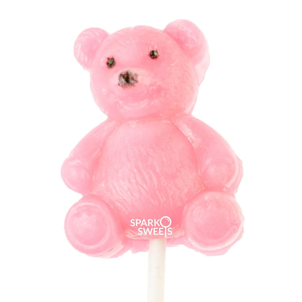Pink Teddy Bear Airy Pops (2 Pieces) - Sparko Sweets