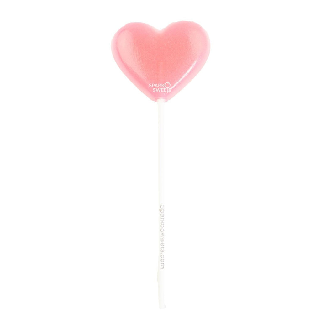 Pink Heart Lollipops (24 Pieces)