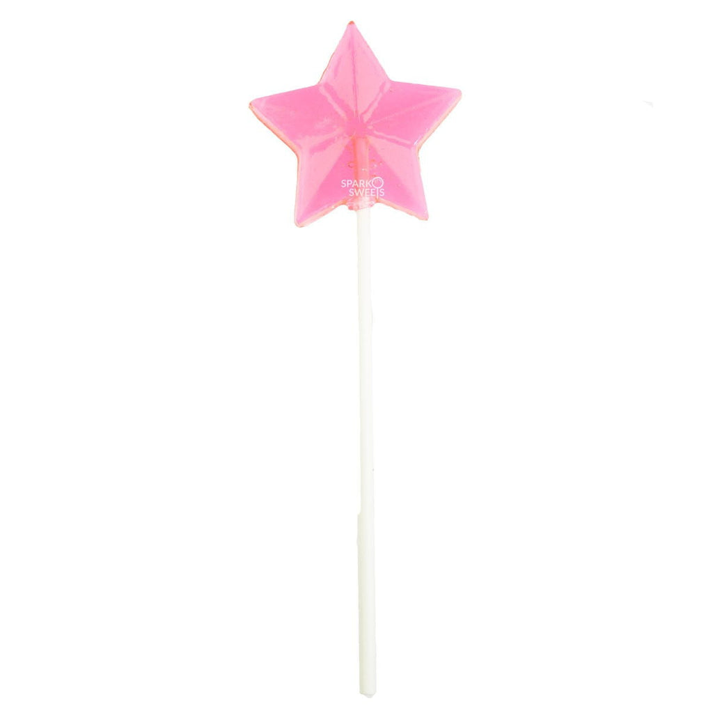 Sugar Free Pink Star Lollipops - Watermelon (24 Pieces) - Sparko Sweets