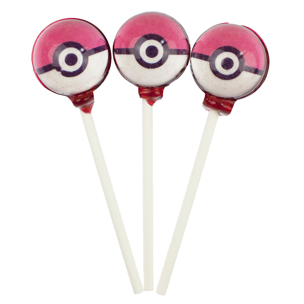 Pokemon Lollipops - Pokeball (10 Pieces) - Sparko Sweets