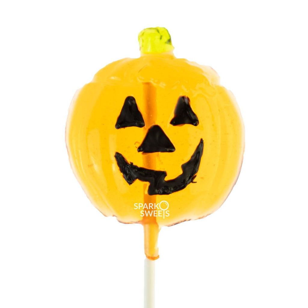 Jack O' Lantern Lollipops (24 Pieces) - Peach - Sparko Sweets