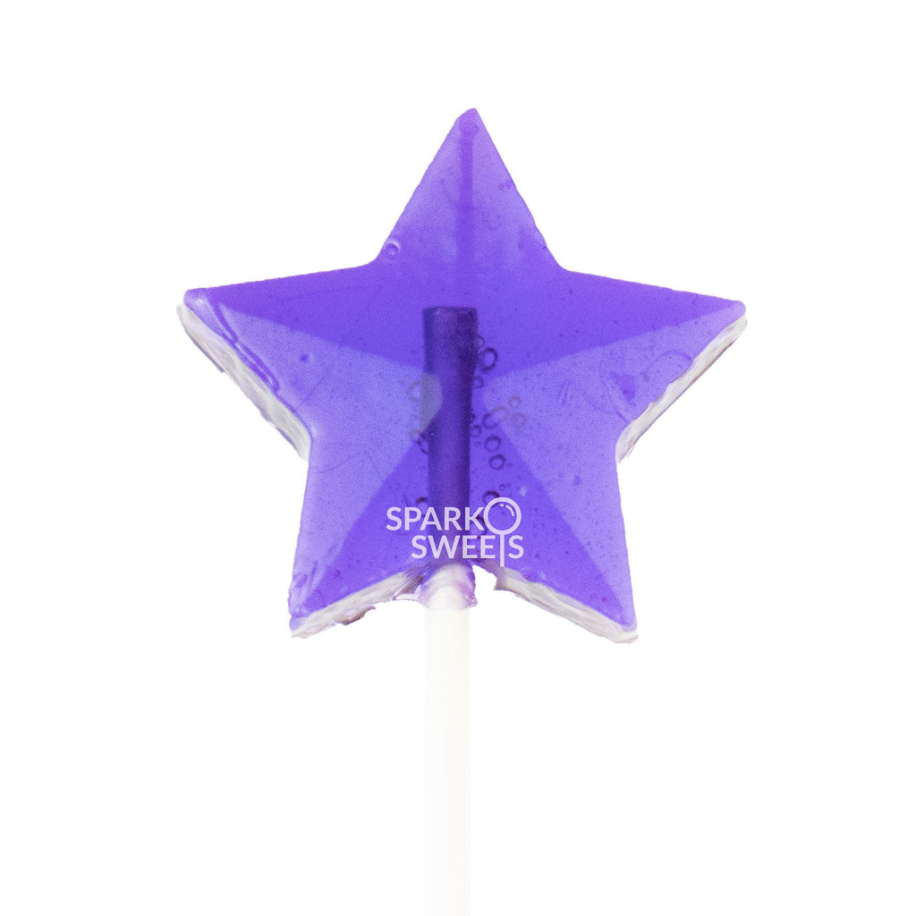 SugarFree Purple Star Fireworks Lollipops (24 Pieces) - Sparko Sweets