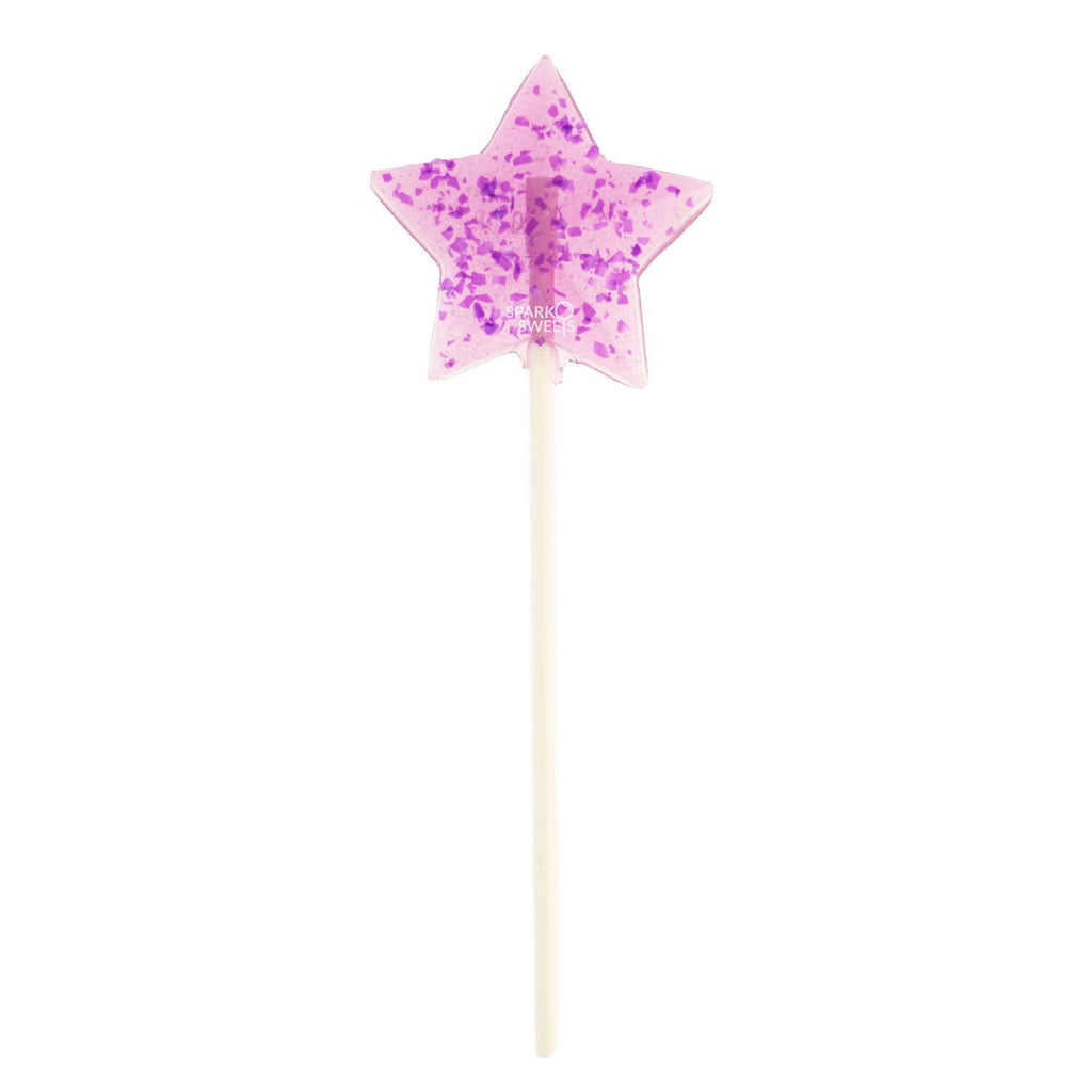 Starry Purple Star Fireworks Lollipops (24 Pieces) - Sparko Sweets
