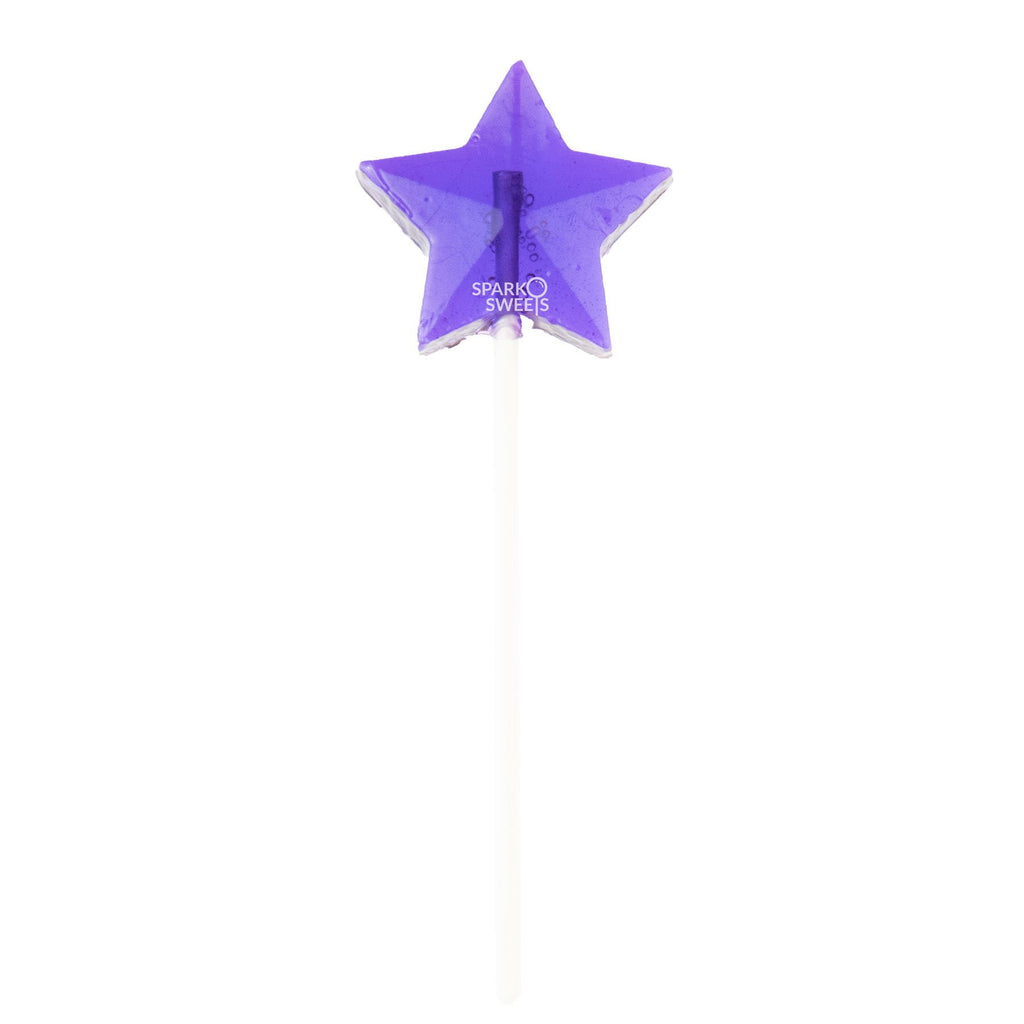Purple Star Lollipops - Grape (24 Pieces) - Sparko Sweets