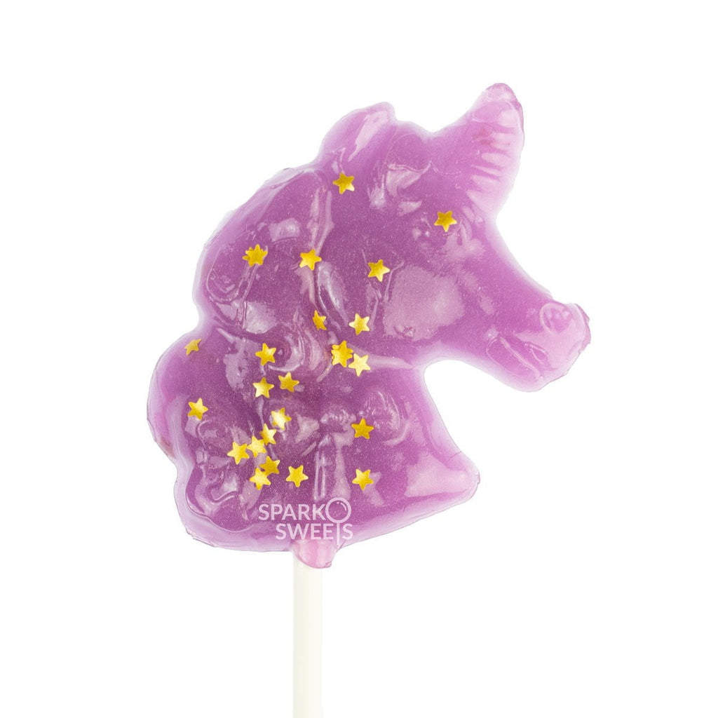 Sparko Purple Unicorn Lollipops (24 Pieces) - Sparko Sweets
