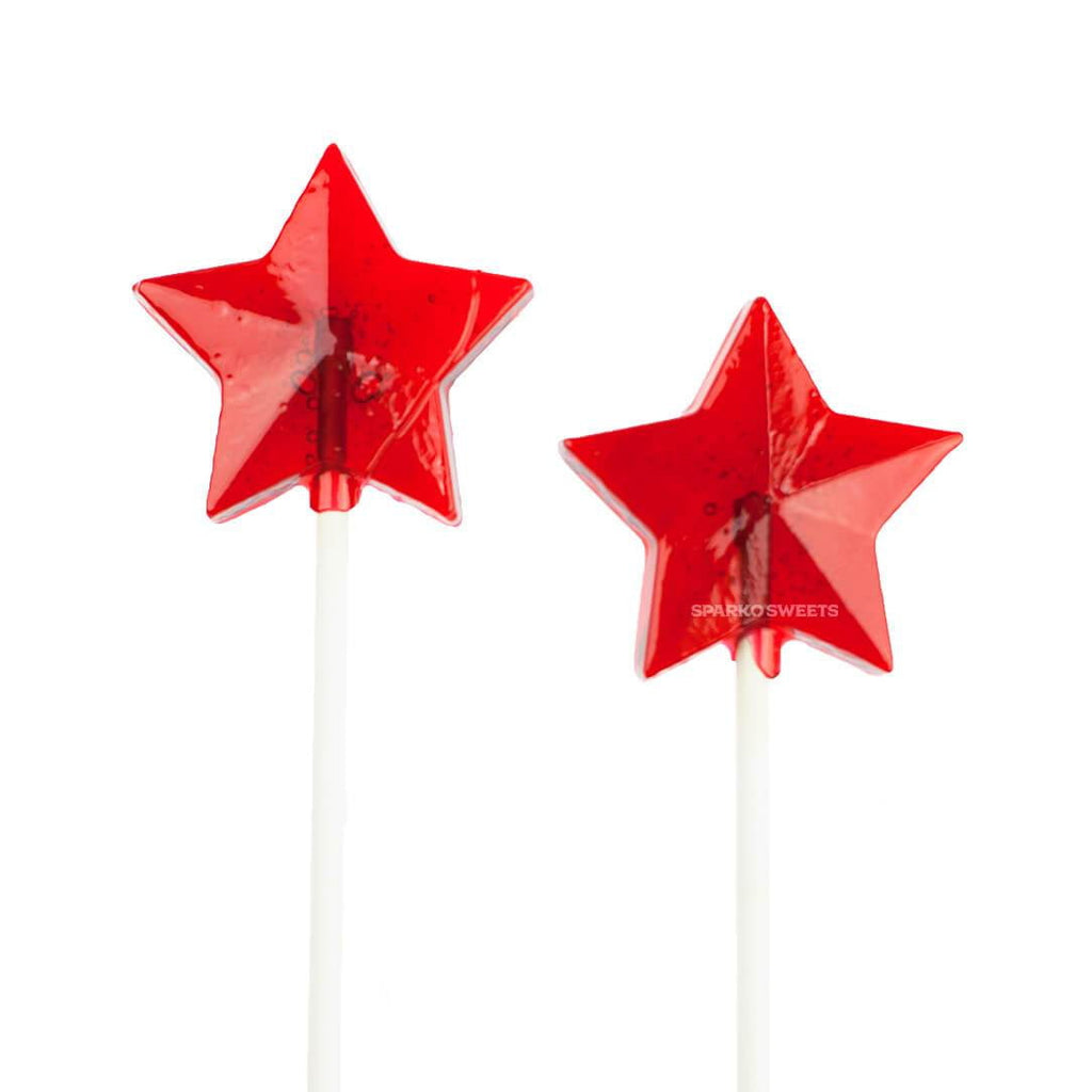 Sugar Free Red Star Lollipops - Cherry (24 Pieces) - Sparko Sweets