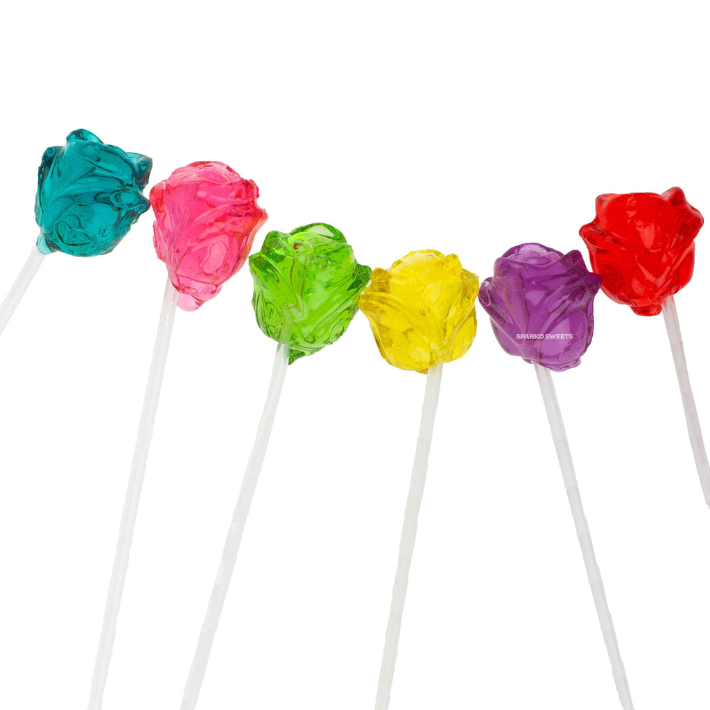 3D Rose Twinkle Pops Lollipops (120 Pieces) - Sparko Sweets