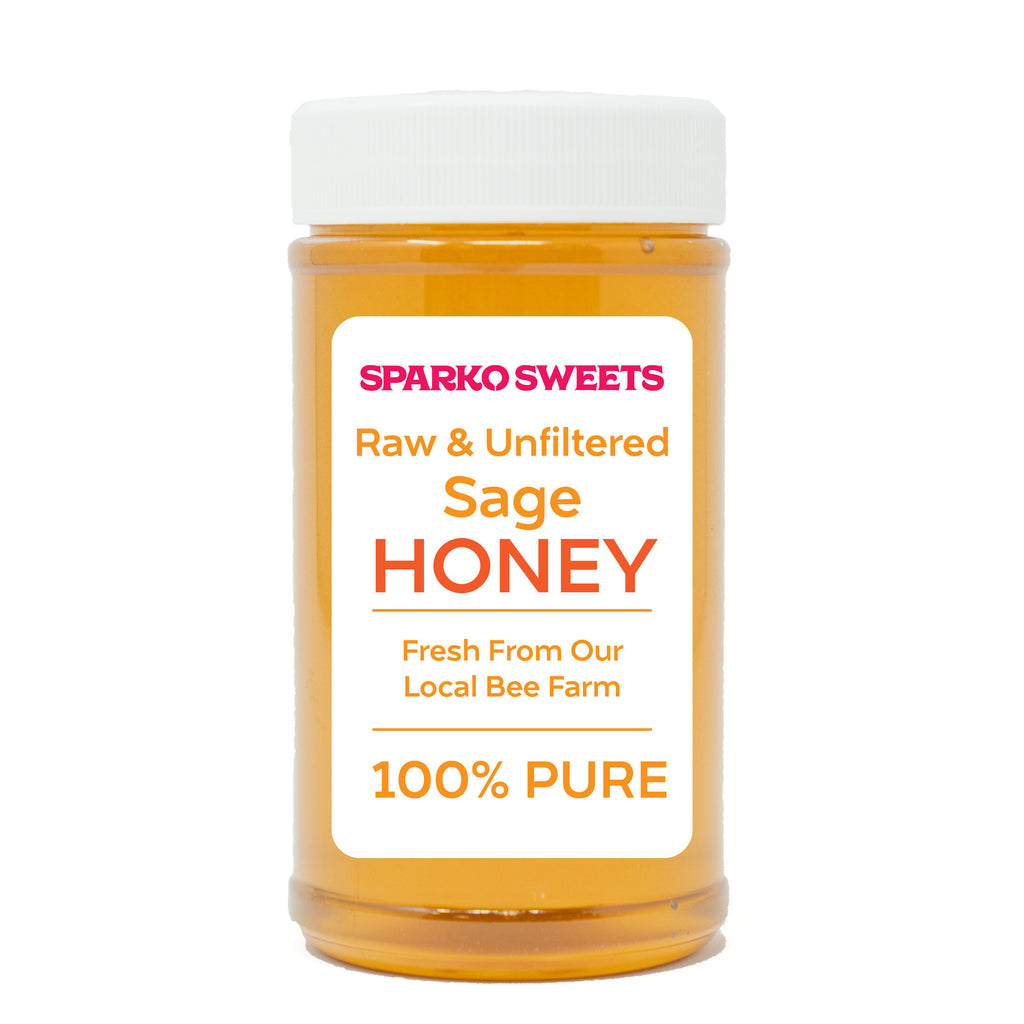 100% Pure Raw Sage Honey - 1 lb. - Sparko Sweets