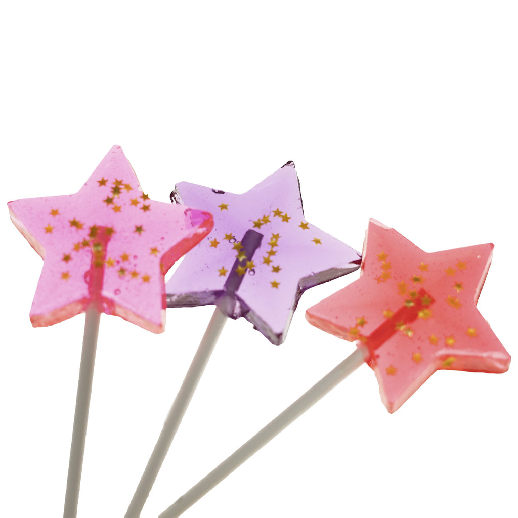 Starry Pink Star Lollipops - Watermelon (24 Pieces) - Sparko Sweets