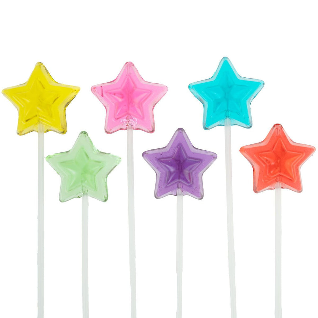 Star Lollipops Long-Stem Twinkle Pops (120 Pieces) - Sparko Sweets