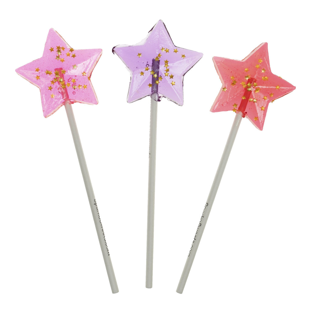 Starry Red Star Lollipops - Cherry (24 Pieces) - Sparko Sweets